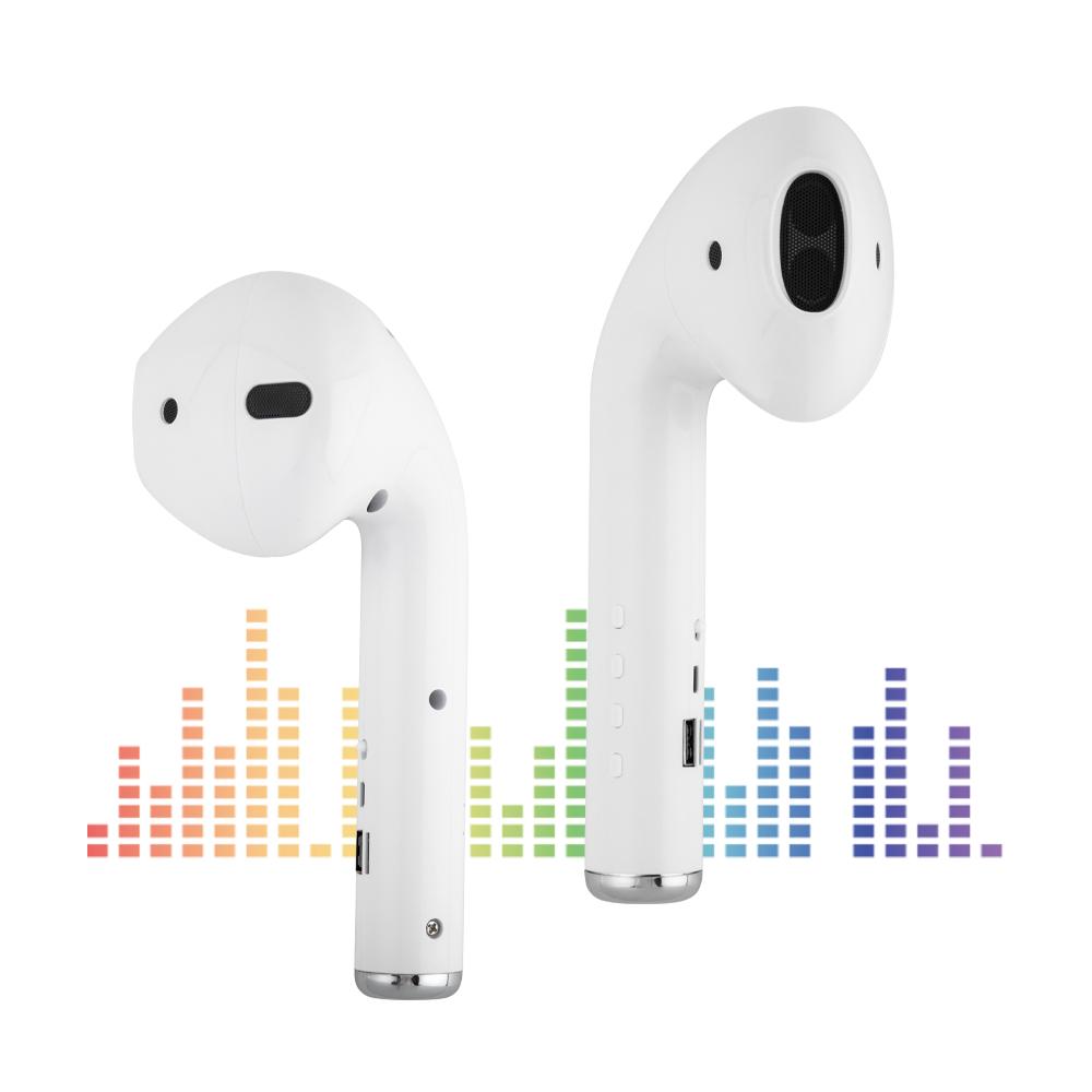巨大化AirPods造型藍牙喇叭 可2台串聯播放 藍牙5.0 支援USB隨身碟/記憶卡/FM廣播 趣味無線喇叭 藍牙音響 趣味用品 影音用品