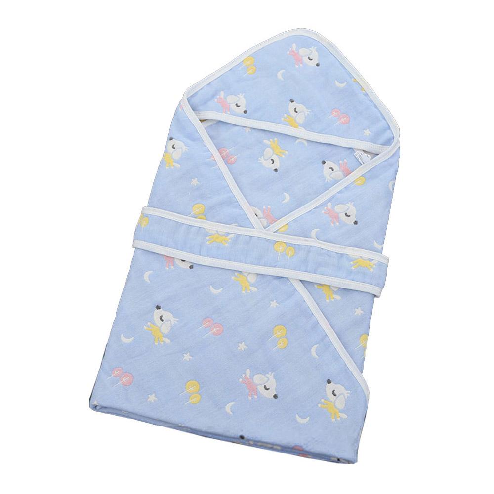 六層紗布包巾 新生兒出院外出抱被 顧家垂耳狗【CH003C14105】