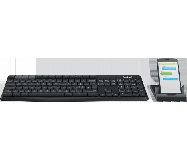 羅技 Logitech K375s 中文藍牙&無線雙介面鍵盤 附手機支架 [富廉網]