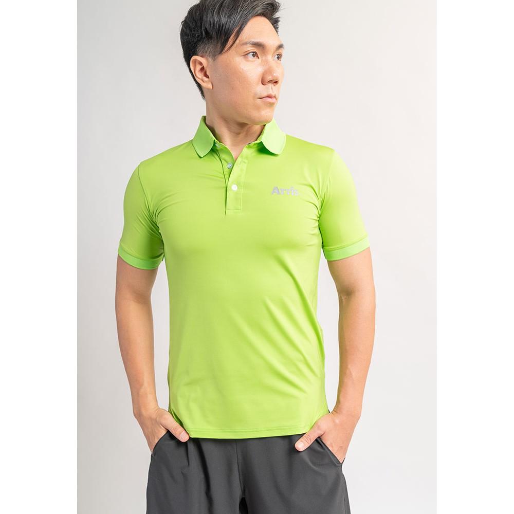 【Attis亞特司】螺紋立領短袖冰涼POLO衫-酪梨綠