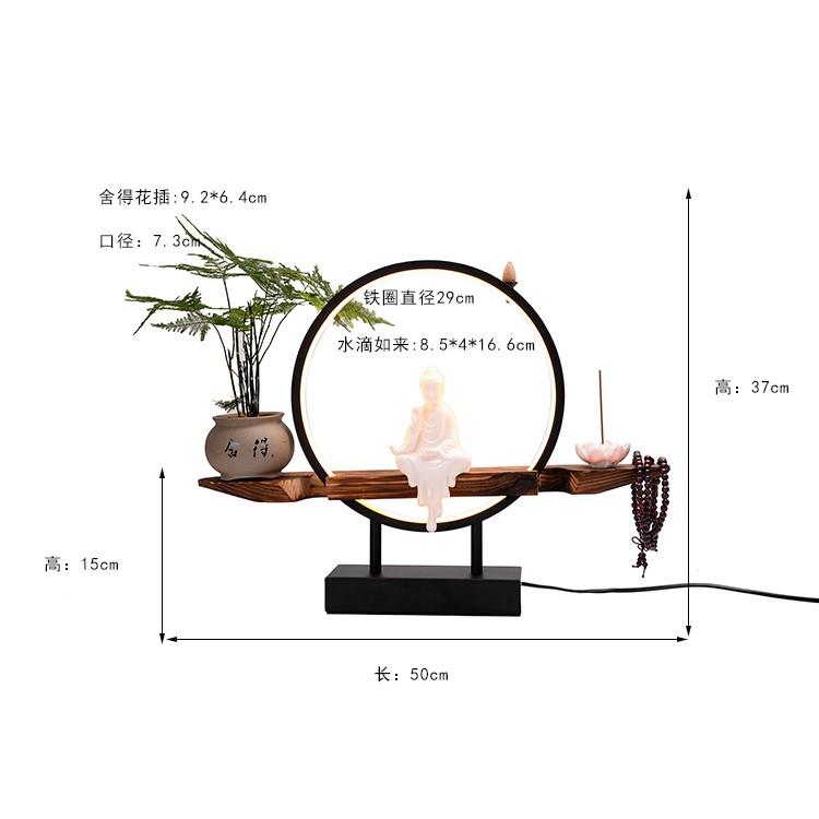 【夯范】燈禪意倒流香爐創意風化木擺件中式家用室內供佛大號沉香檀香熏爐