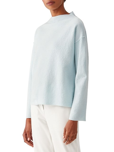 Funnel-Neck Boxy Top