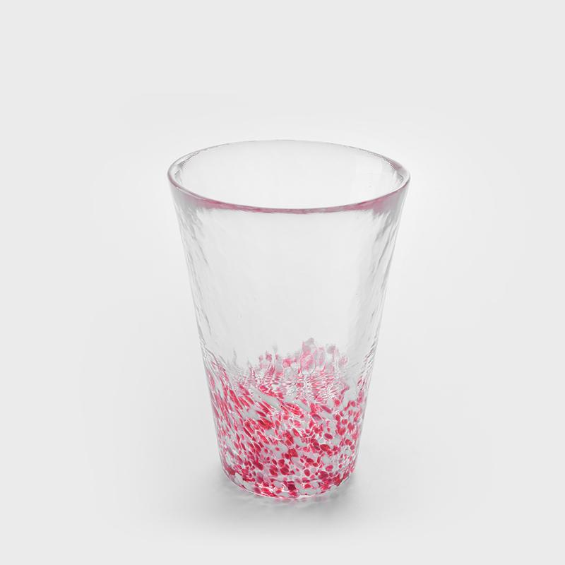 津輕 日製手作 300ml 玻璃杯│粉櫻│單品