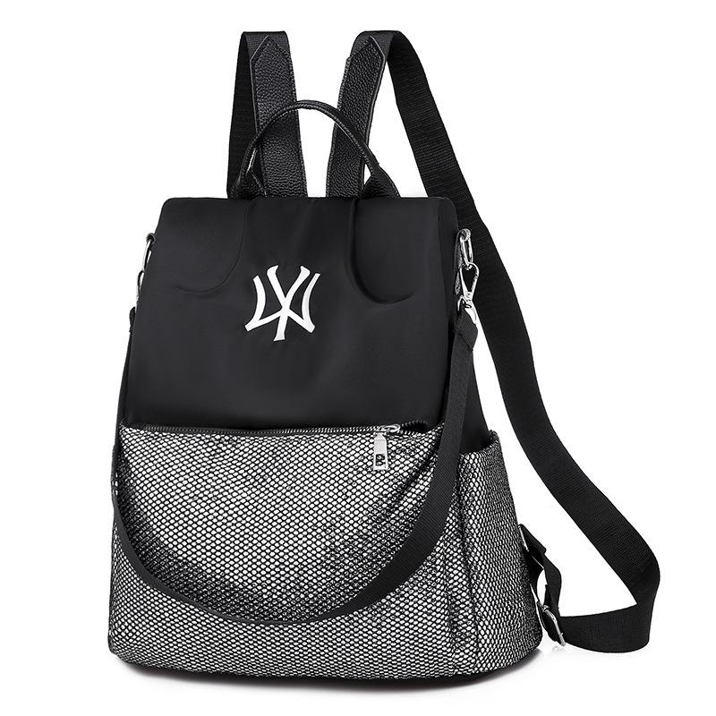 Kinyo 牛津軟皮包大容量時尚女背包休閒旅行戶外