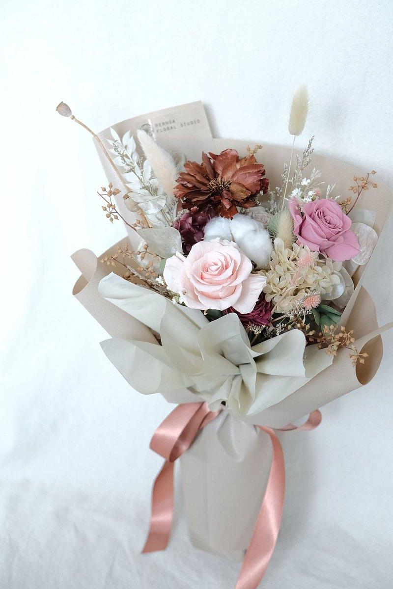韓風永生玫瑰花束 情人節禮物 玫瑰花束 求婚 生日