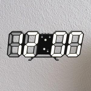 LED數字時鐘掛鐘-黑殼白字
