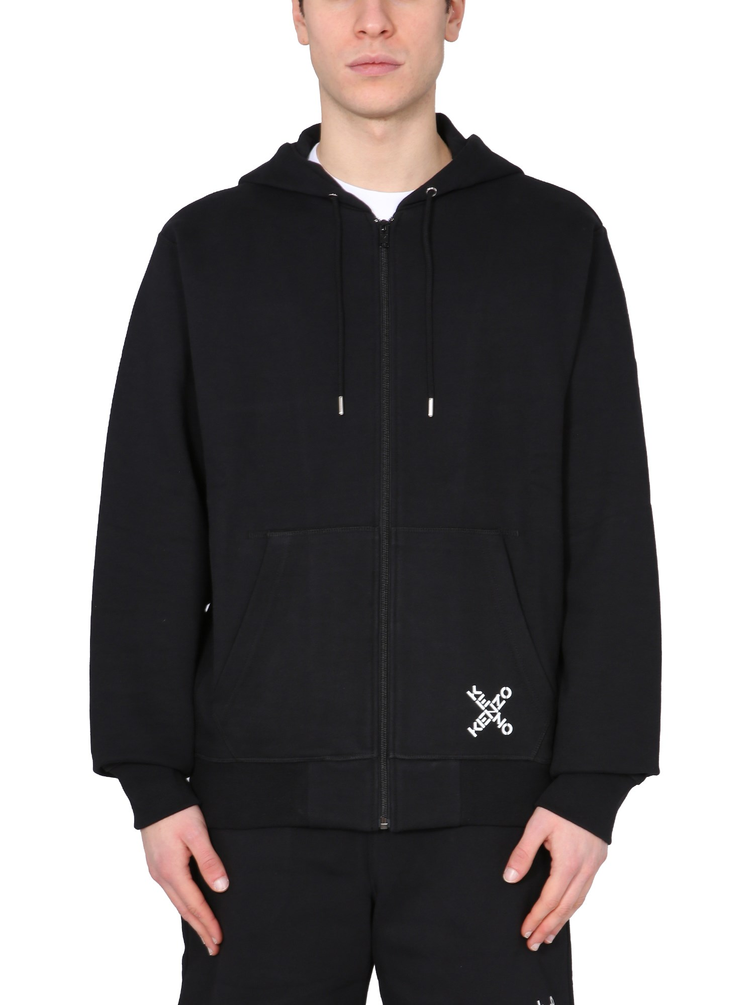 kenzo hooded sweatshirt with zip