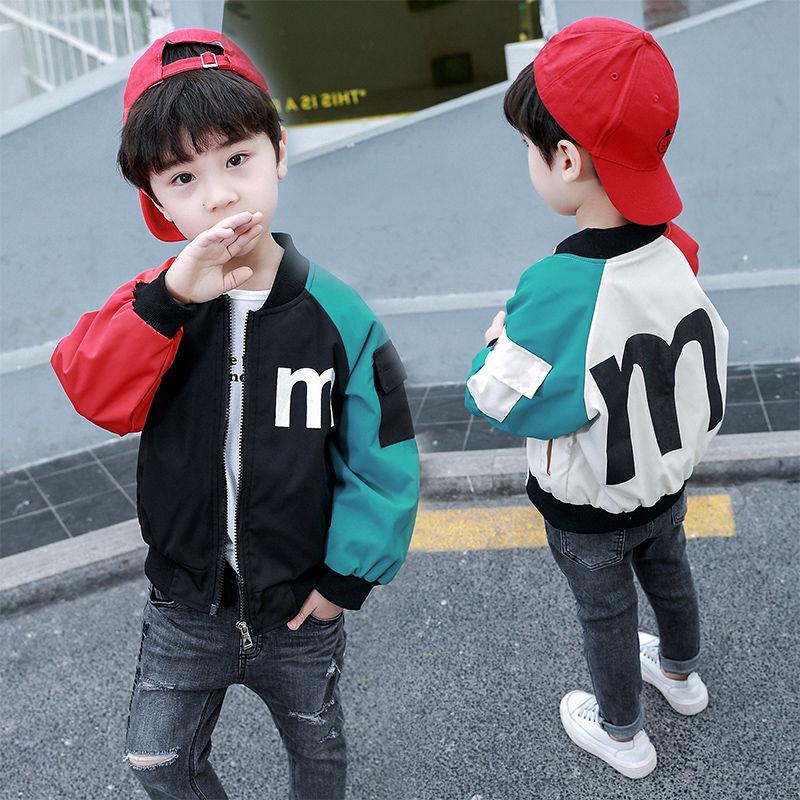 童裝男童外套春裝2021新款兒童夾克中大童韓版春秋季男孩棒球服潮