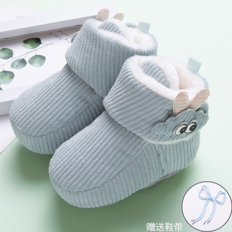 咿呀 2021 嬰兒不掉鞋0-6-12個月秋冬軟底棉鞋男女寶寶0-1歲新生兒加厚保暖
