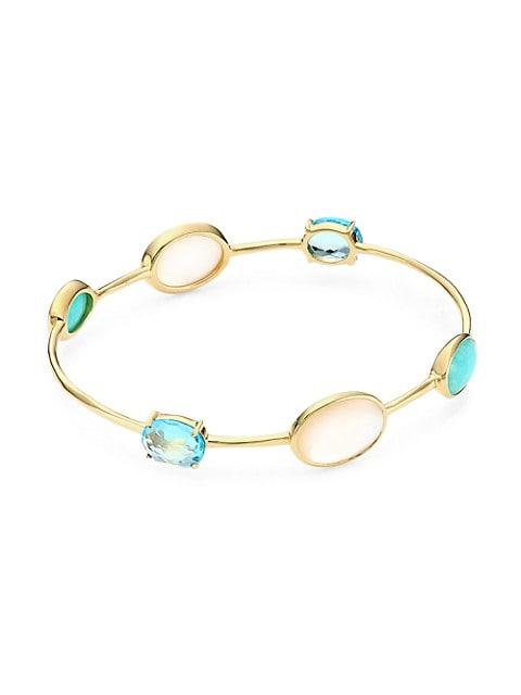18K Rock Candy® 18K Yellow Gold & Mixed-Stone 6-Station Bangle Bracelet