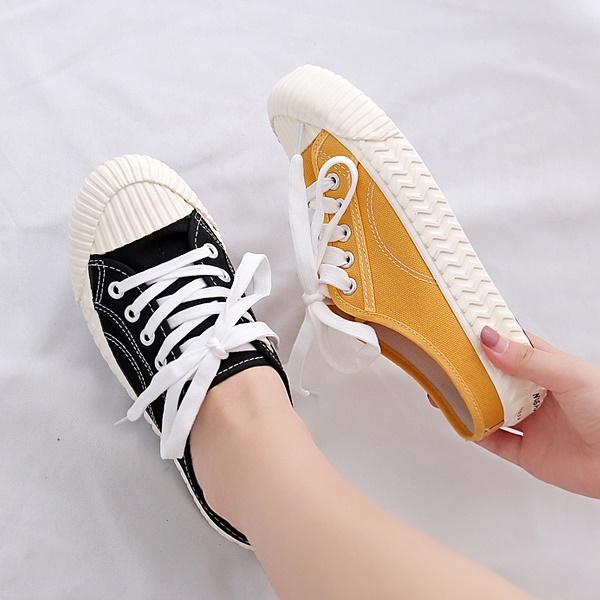 穆勒鞋.韓版餅乾鞋底綁帶休閒拖鞋.白鳥麗子