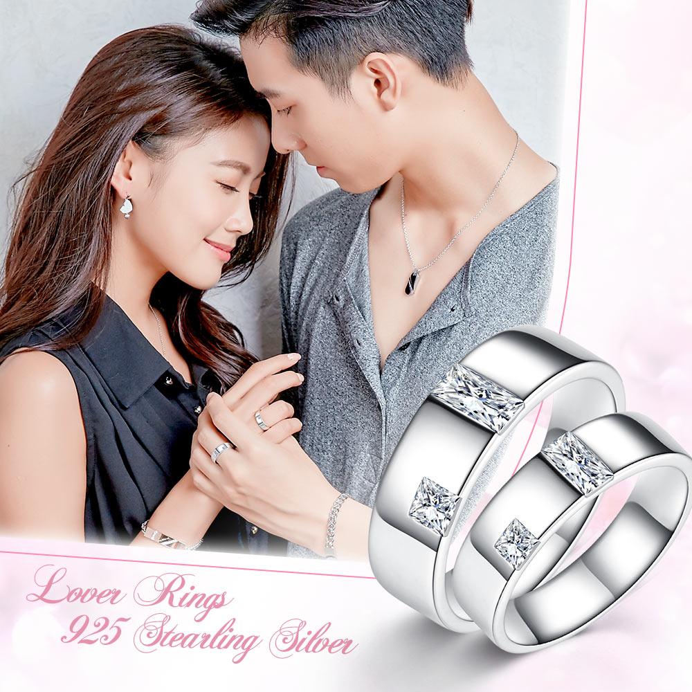 GIUMKA 925純銀戒指尾戒  攜手相伴純銀戒  情侶對戒  單個價格 MRS06027
