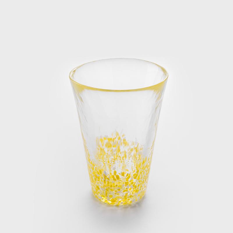 津輕 日製手作 300ml 玻璃杯│亮黃│單品