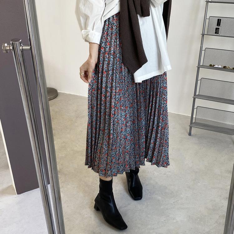 【missy shop】愛上舞動的薔薇百褶裙-761