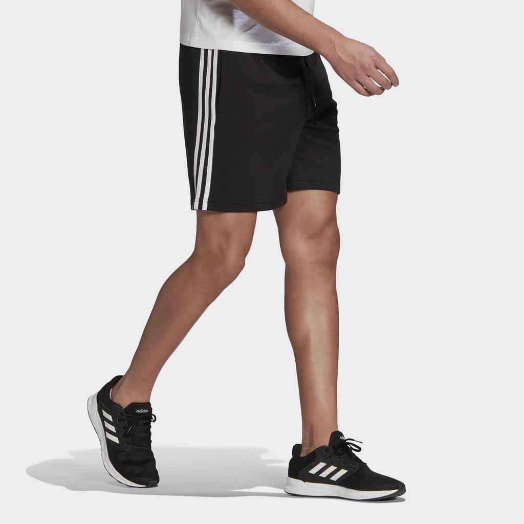 Adidas Essentials 三線 男款 運動 百搭 短褲 黑白 基本款 GK9597