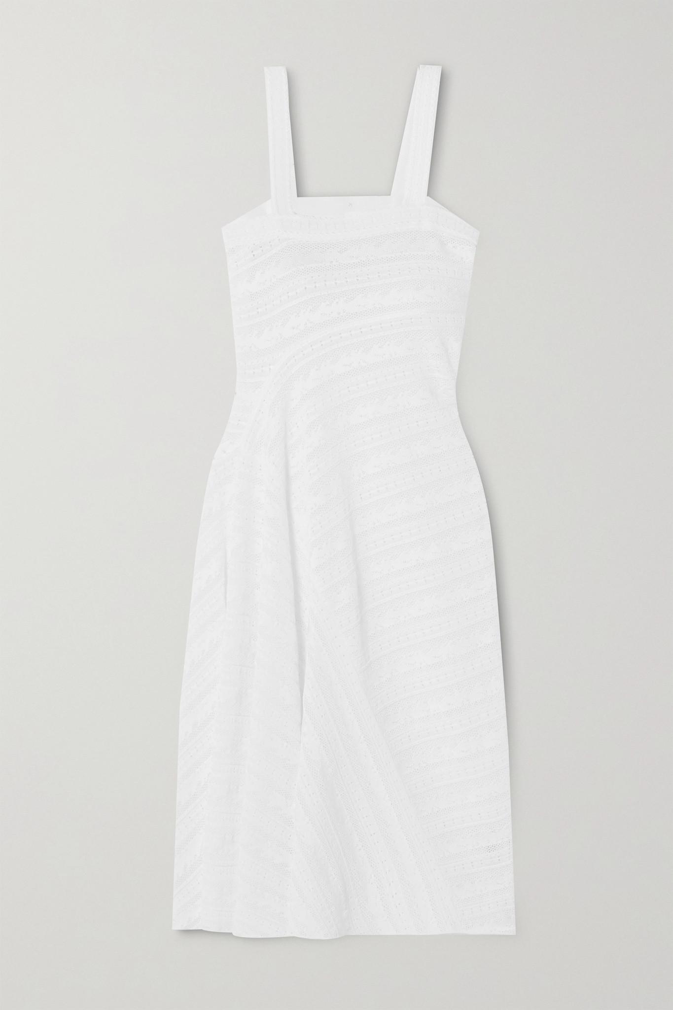 ALAÏA - 弹力蕾丝连衣裙 - 白色 - FR36