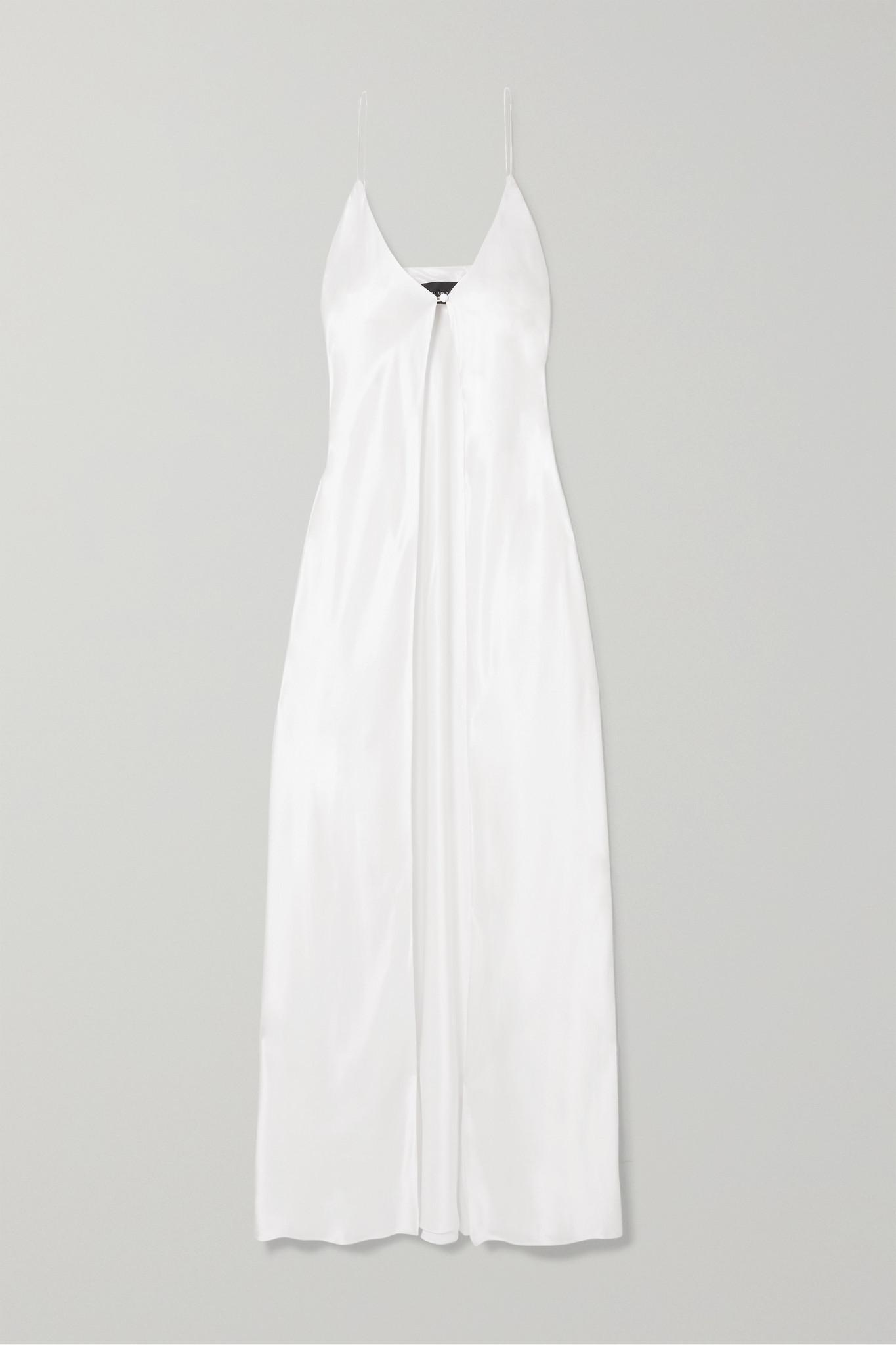 MICHAEL LO SORDO - Silk-satin Camisole - White - UK10