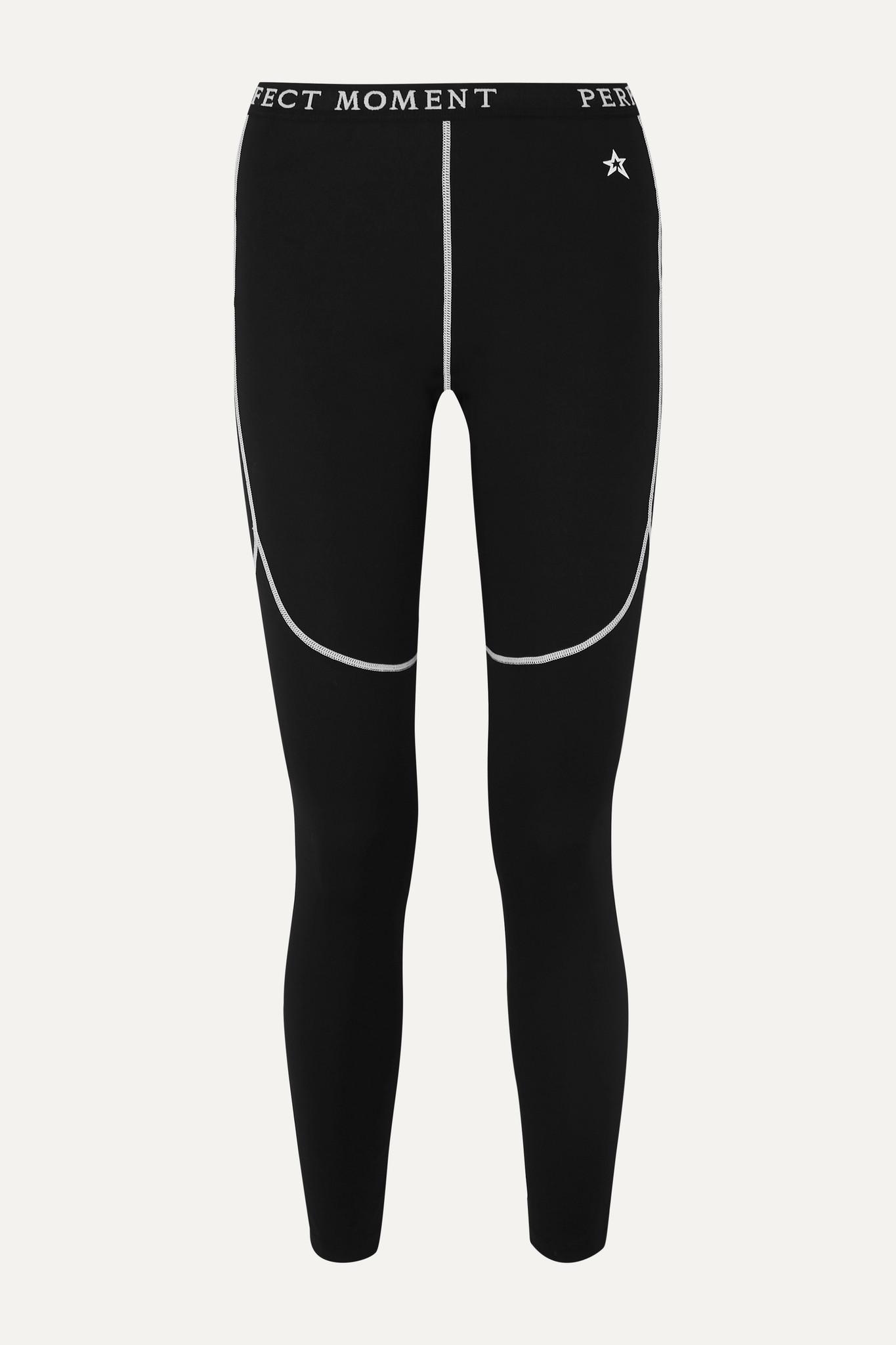 PERFECT MOMENT - Thermal 弹力紧身运动裤 - 黑色 - small