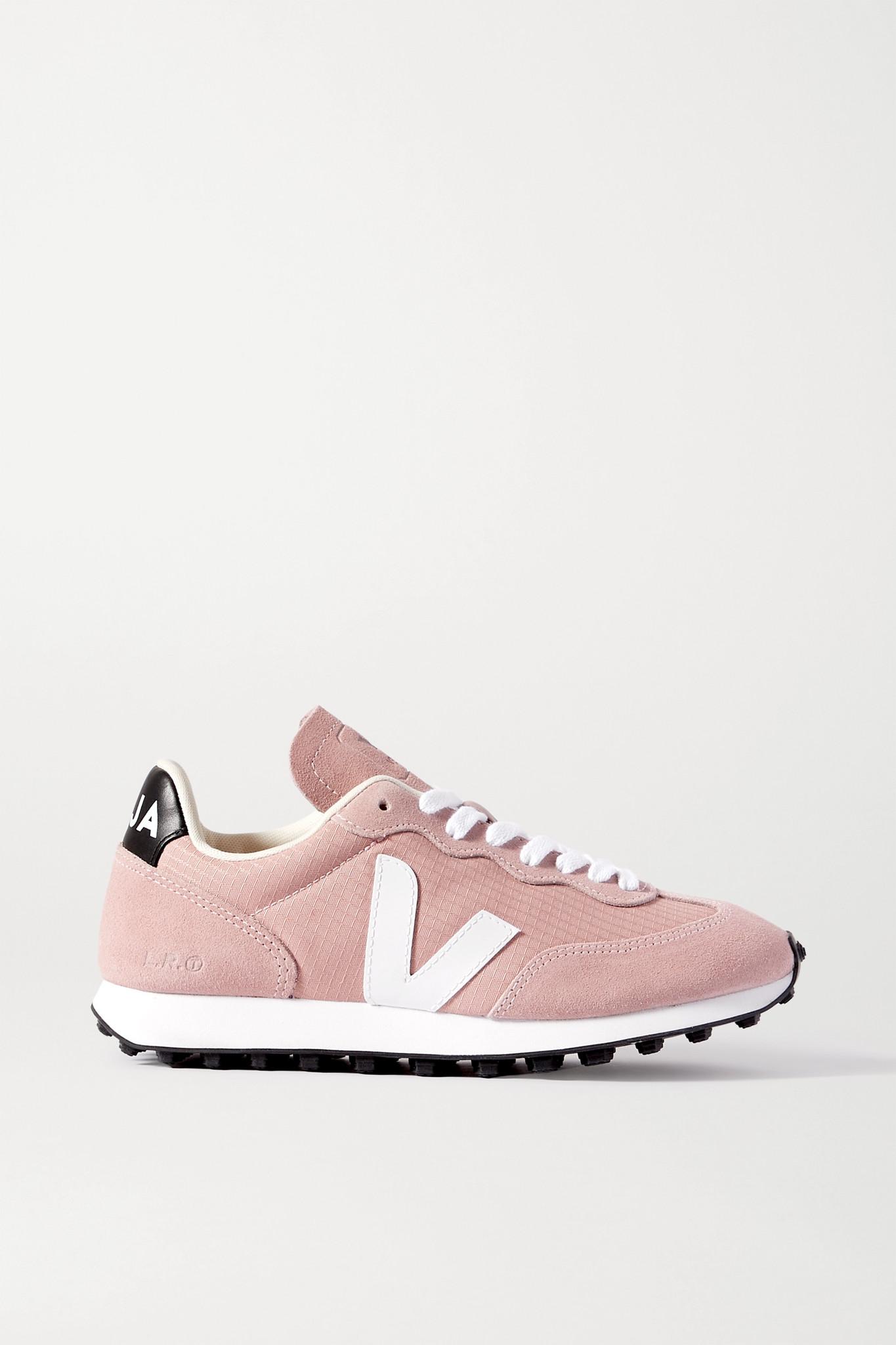 VEJA - 【net Sustain】rio Branco 皮革边饰绒面革网眼运动鞋 - 粉红色 - IT41