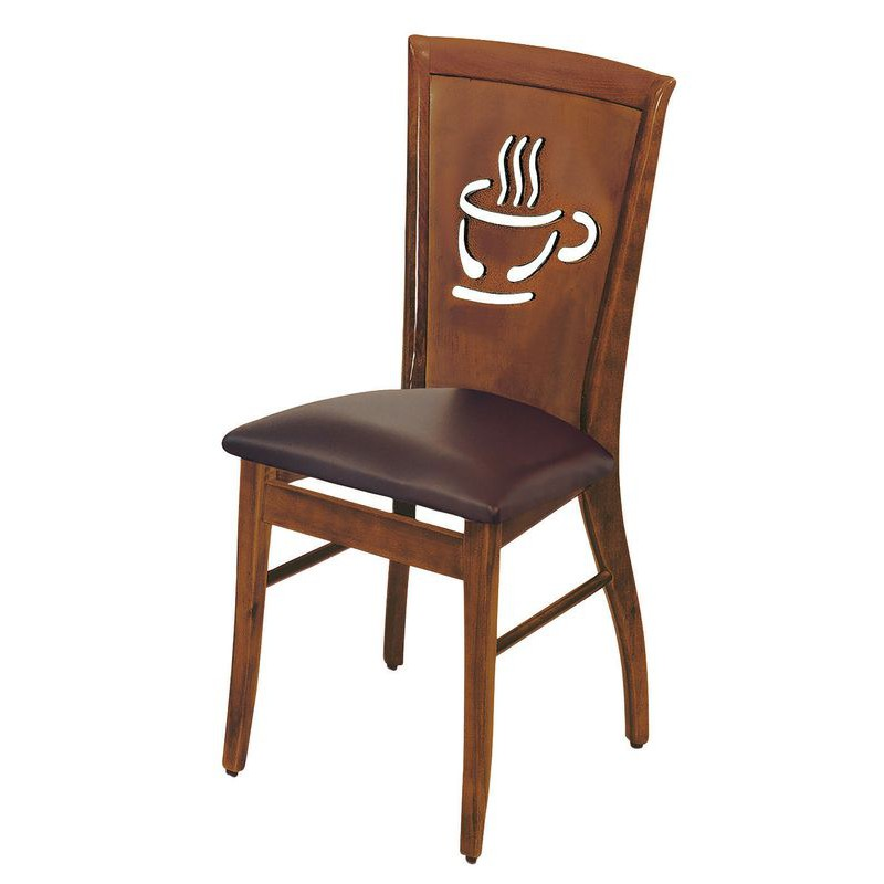 【KB326-16】咖啡胡桃餐椅(T2003)