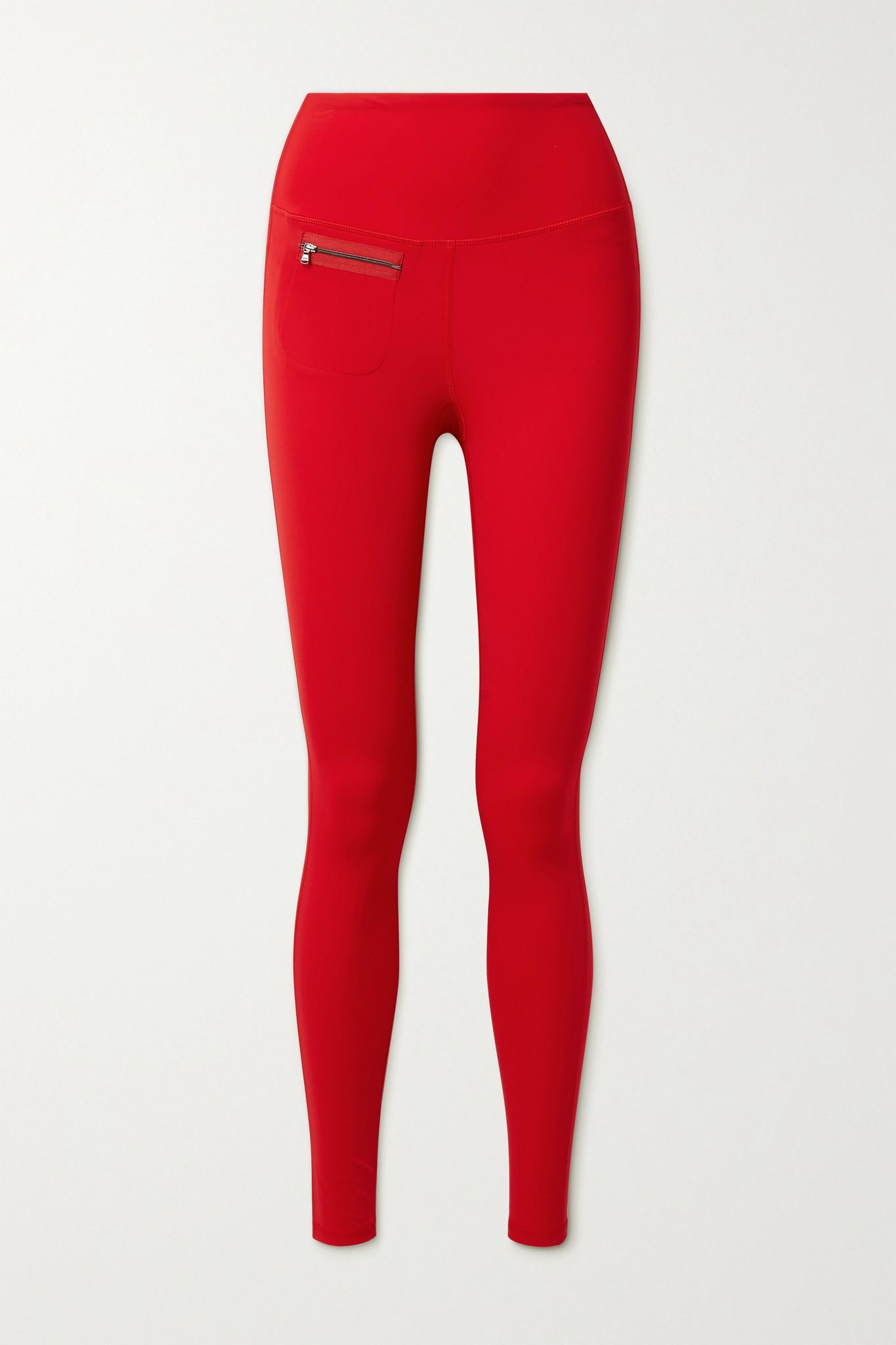 ERIN SNOW - Peri Stretch Ski Leggings - Red - small