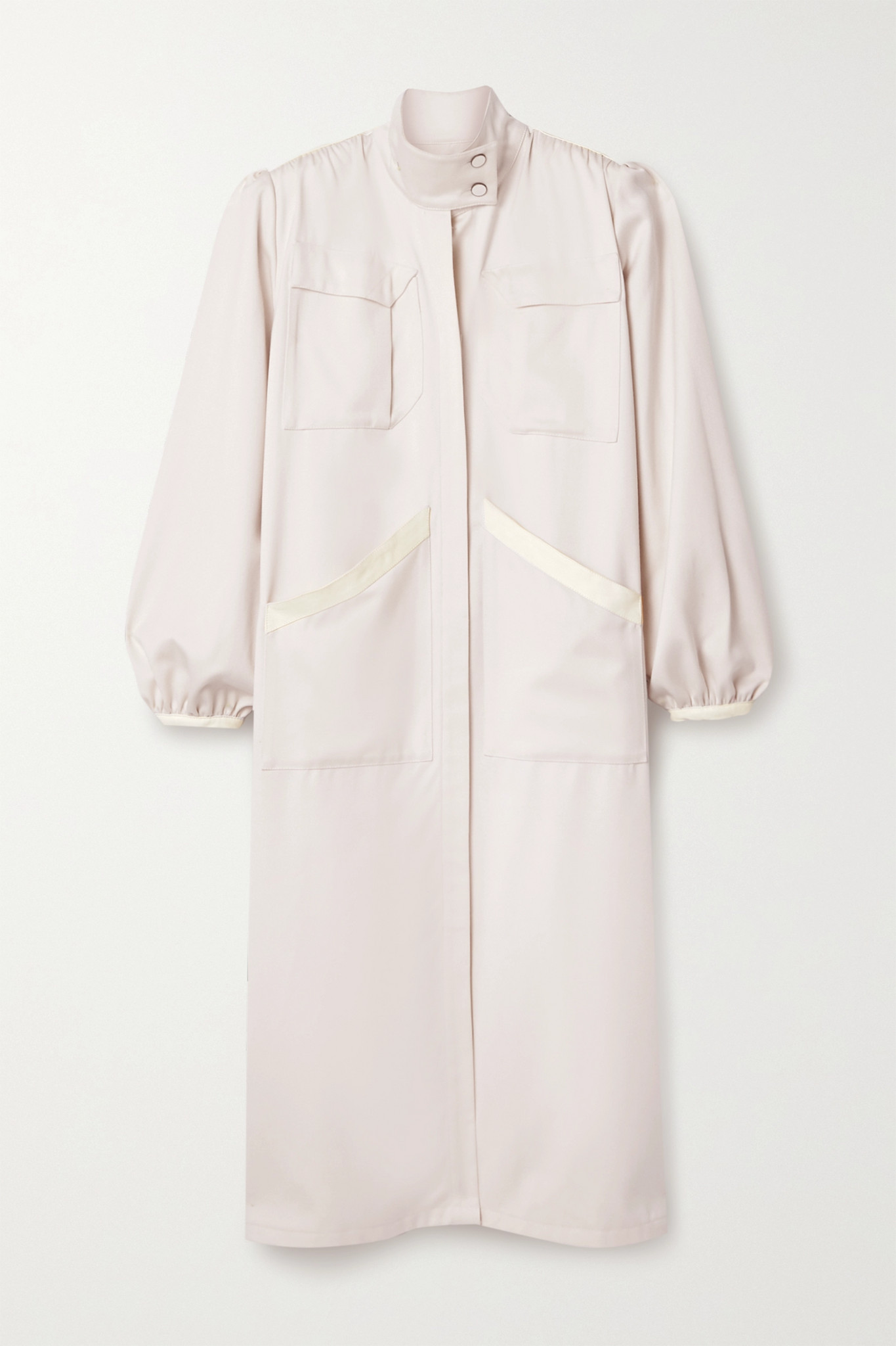 JOHANNA ORTIZ - + Net Sustain Extra Ornamental Wool Dress - Ecru - US2