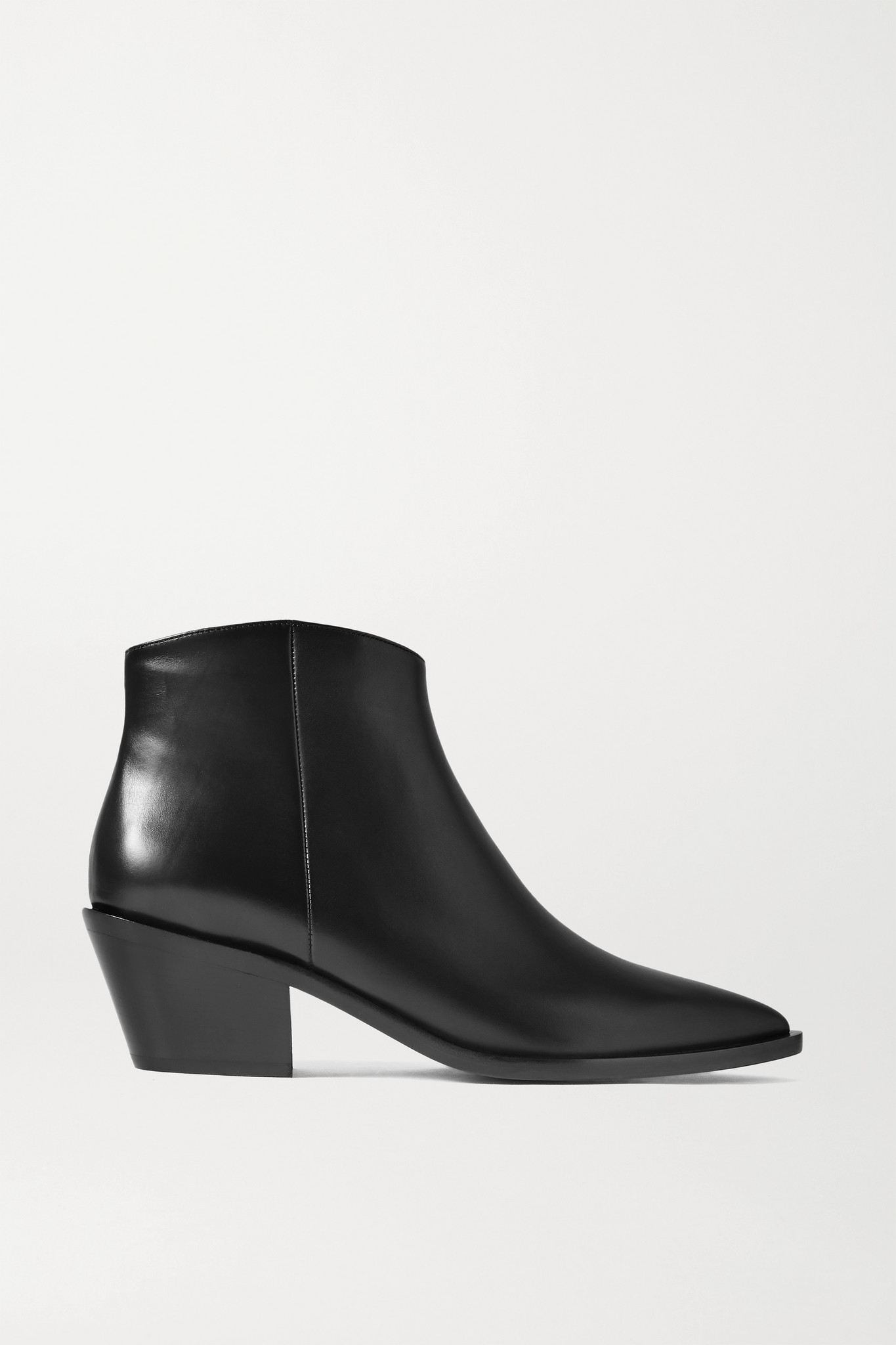 GIANVITO ROSSI - 45 皮革踝靴 - 黑色 - IT36