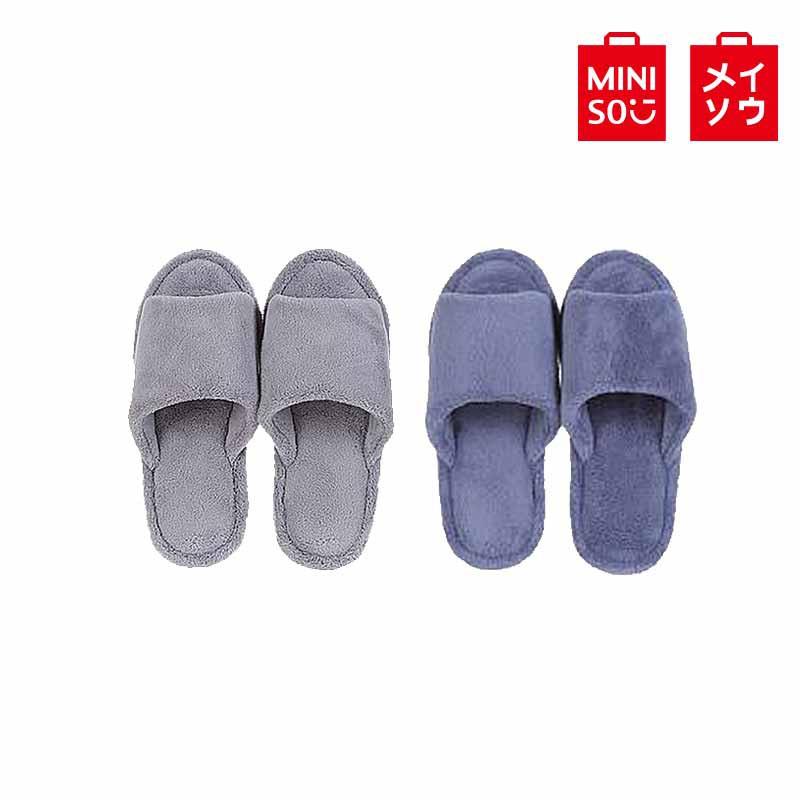 【MINISO名創優品】簡約舒適男士開口拖鞋(41/42)混