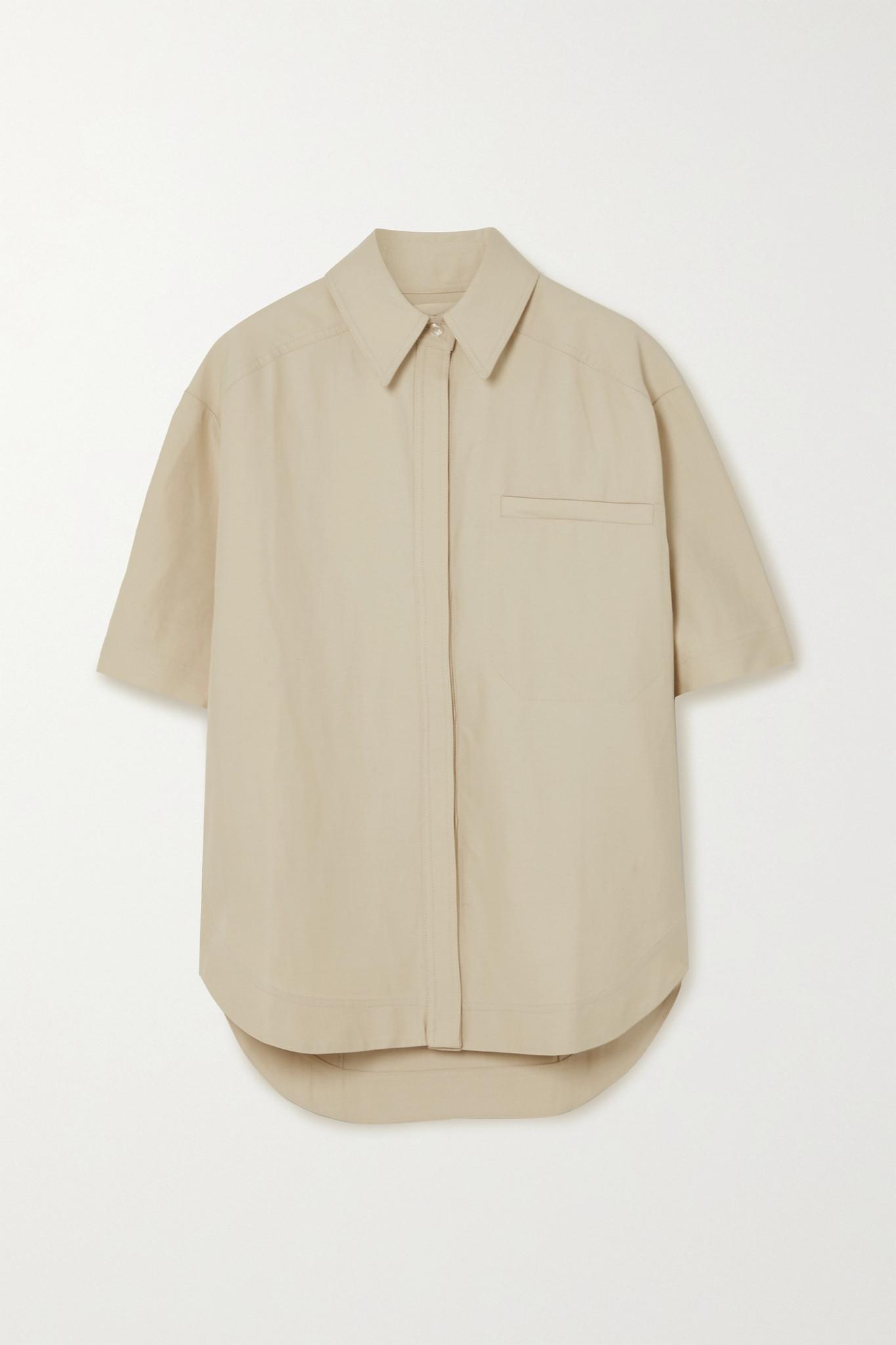 LOULOU STUDIO - Moheli 梭织衬衫 - 中性色 - large