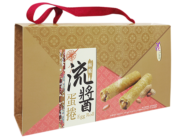 花之戀語~流醬蛋捲禮盒(花生)240g【D342471】
