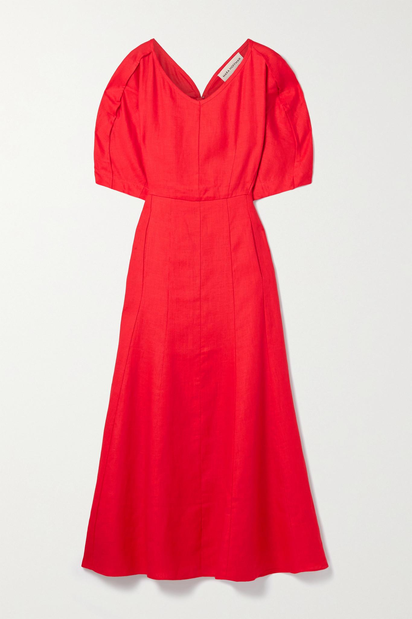 MARA HOFFMAN - 【net Sustain】sicily 汉麻中长连衣裙 - 红色 - US00