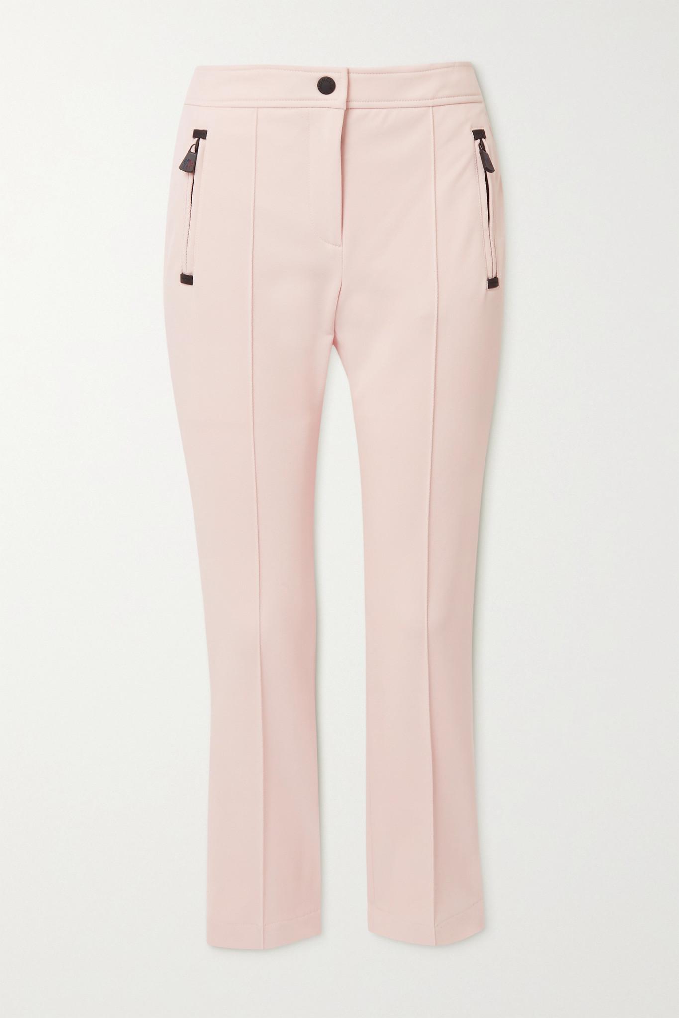MONCLER GRENOBLE - Sportivo 弹力斜纹布窄腿滑雪裤 - 粉红色 - IT40