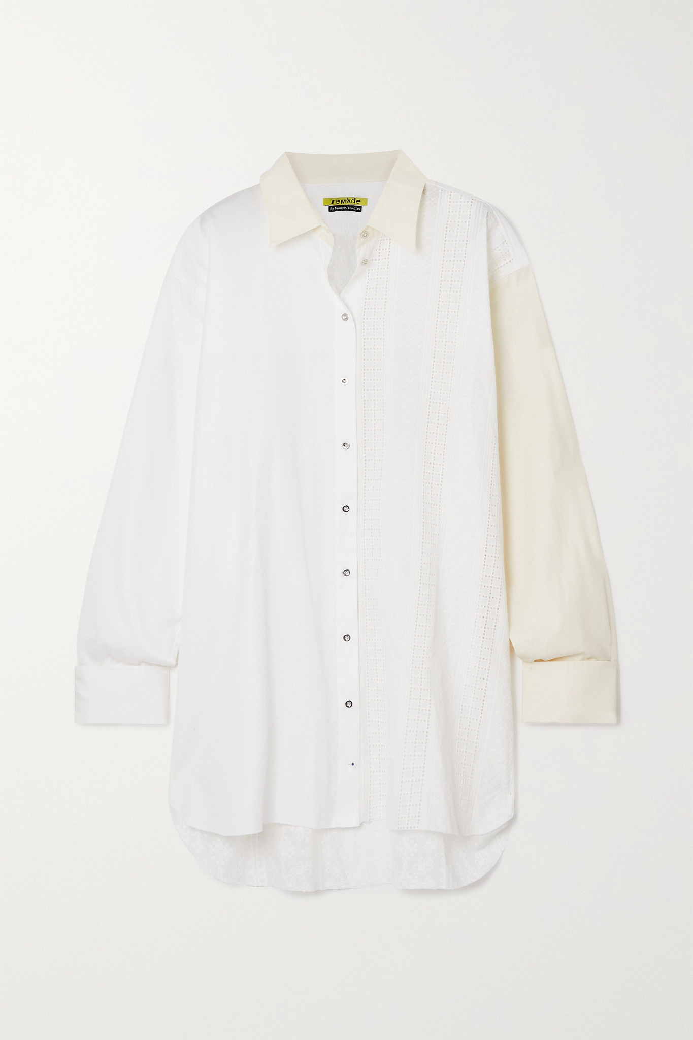 MARQUES' ALMEIDA - + Net Sustain Rem'ade By Marques' Almeida Two-tone Paneled Cotton Shirt - White -