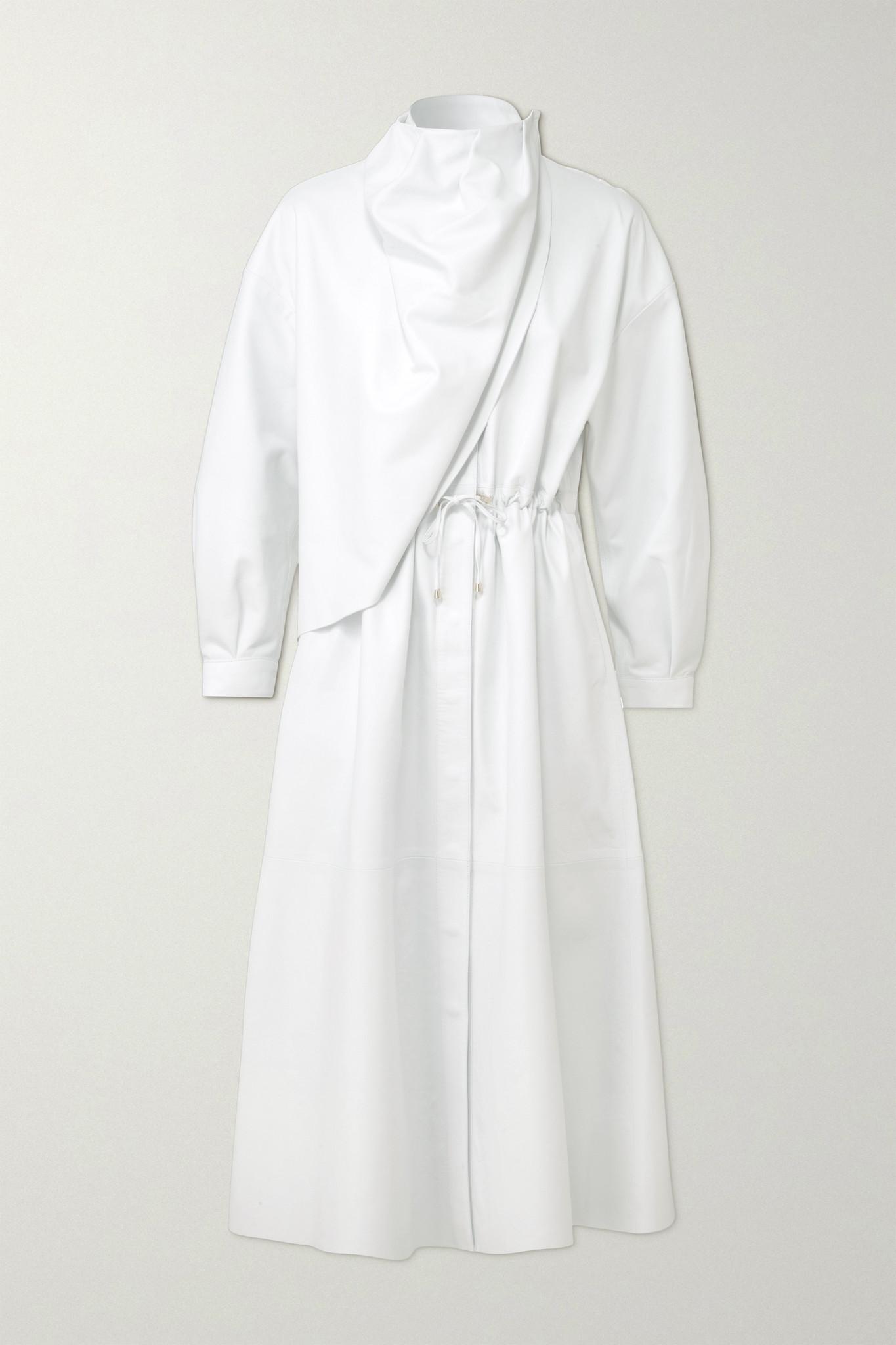 DODO BAR OR - Sitter 垂坠皮革中长连衣裙 - 白色 - IT44