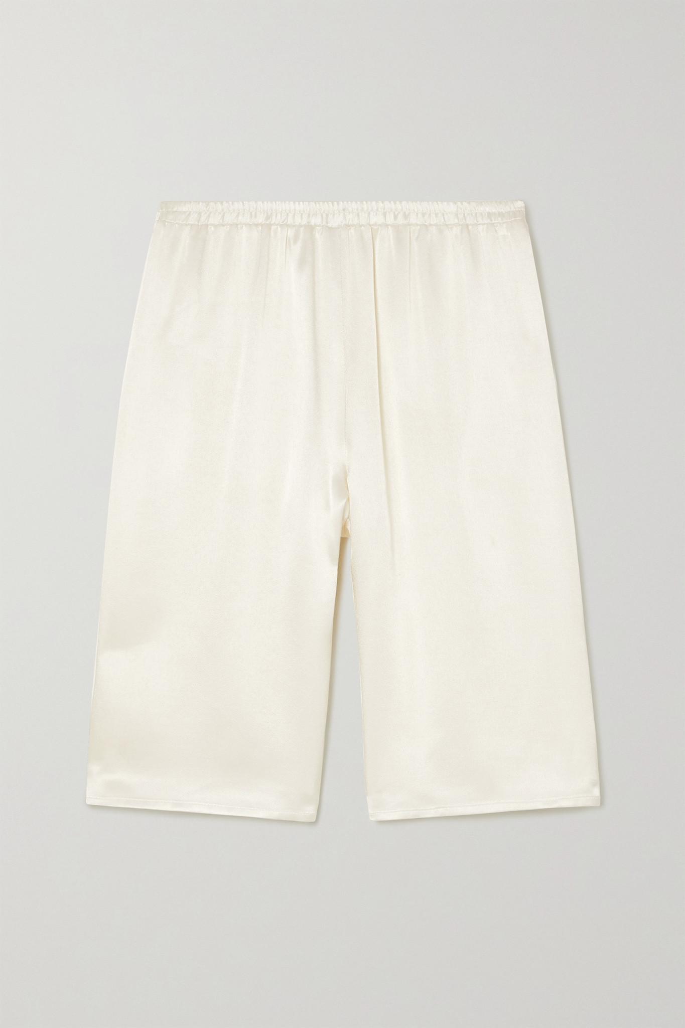 LAPOINTE - 缎布短裤 - 象牙色 - medium