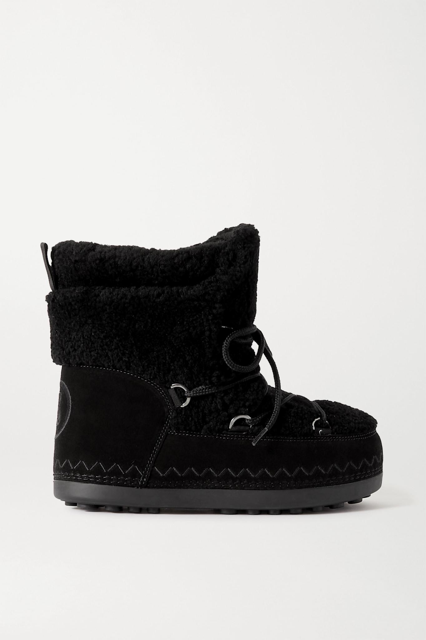BOGNER - Trois Vallées 15a 绒面革羊毛皮雪地靴 - 黑色 - M
