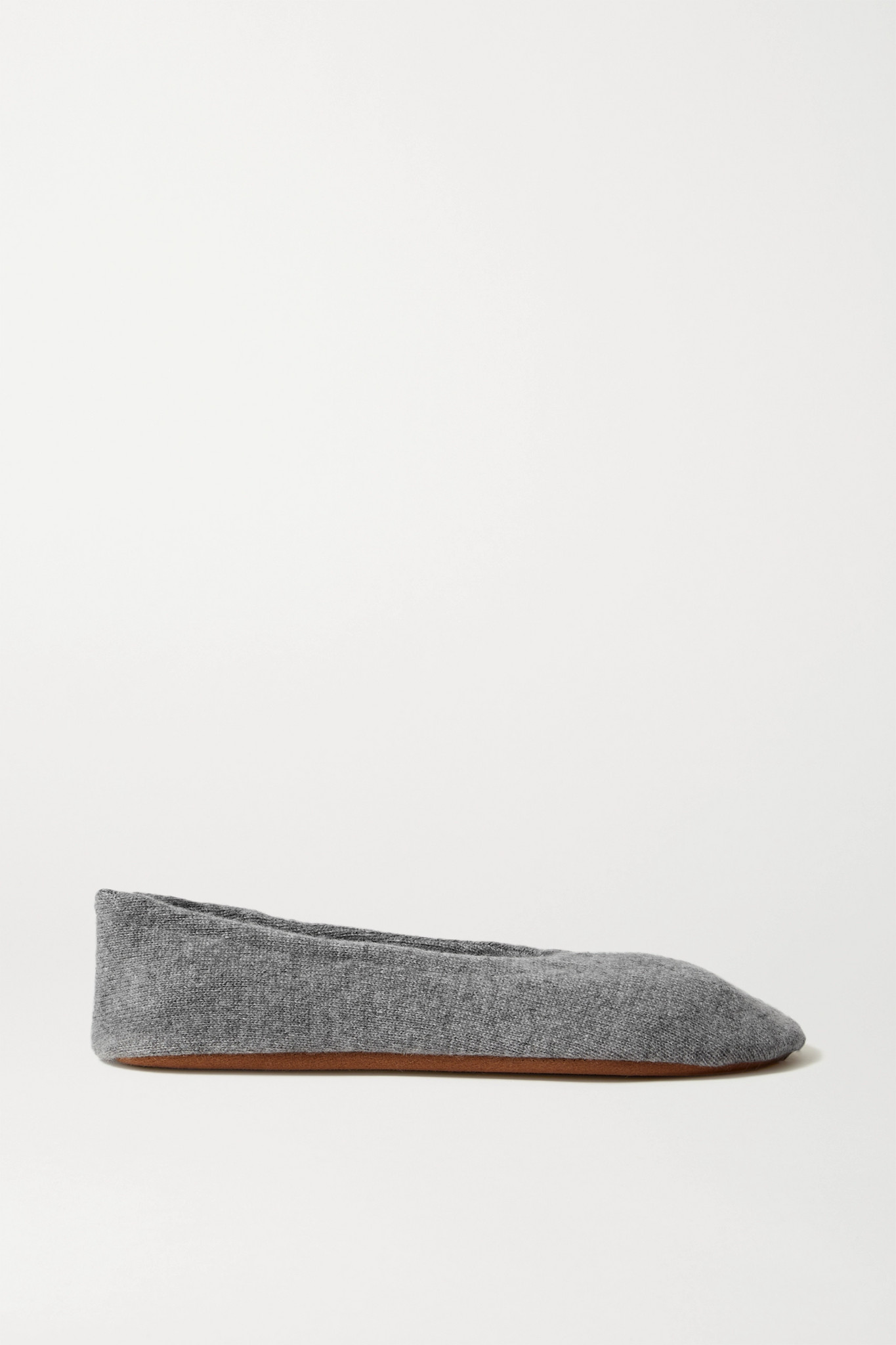 SKIN - Cashmere Ballet Flats - Gray - x small