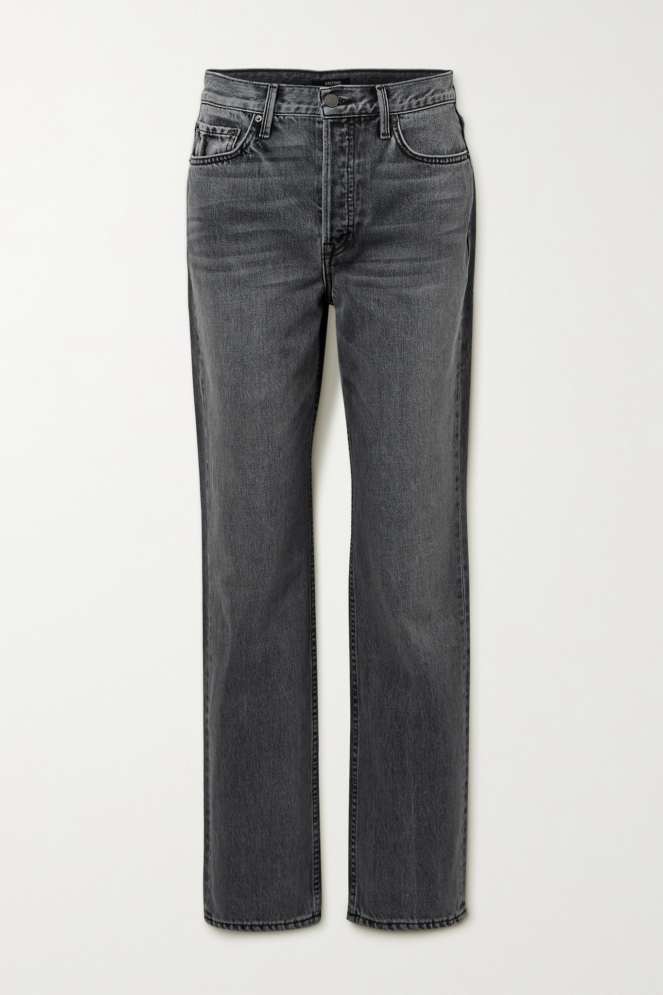 GRLFRND - Mica High-rise Straight-leg Jeans - Gray - 25