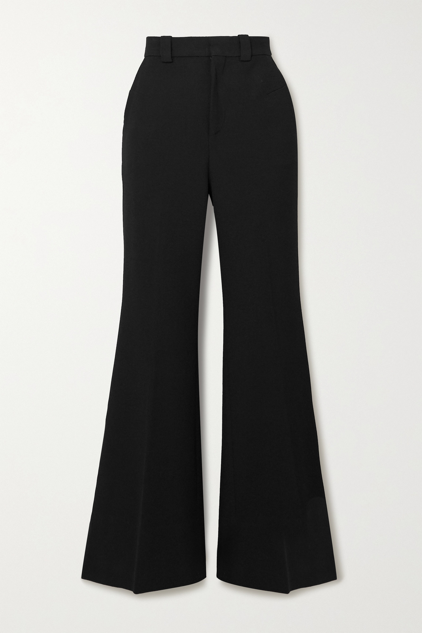 ROLAND MOURET - Dilman Stretch-crepe Flared Pants - Black - UK10