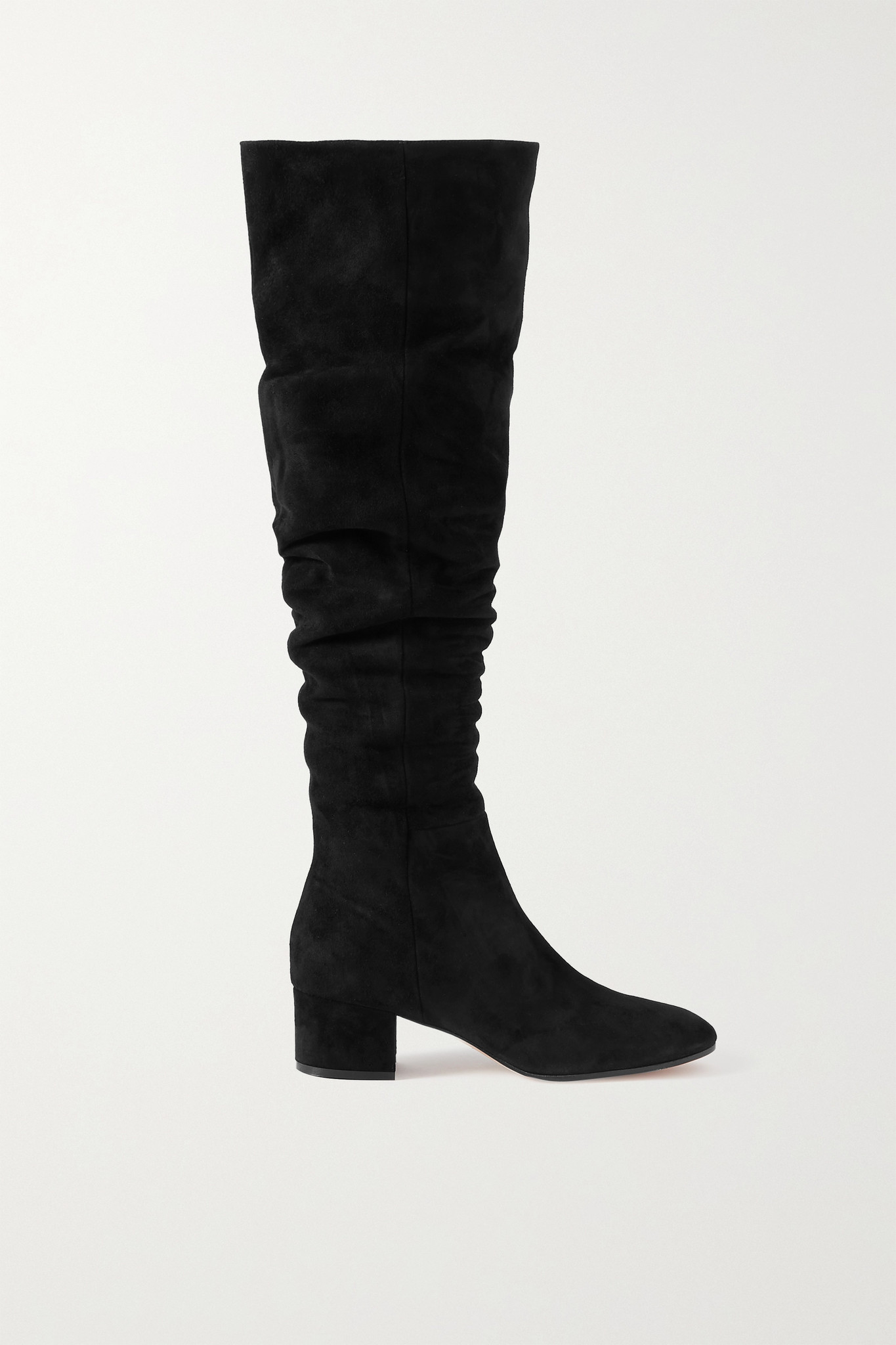 GIANVITO ROSSI - 45 Suede Over-the-knee Boots - Black - IT36