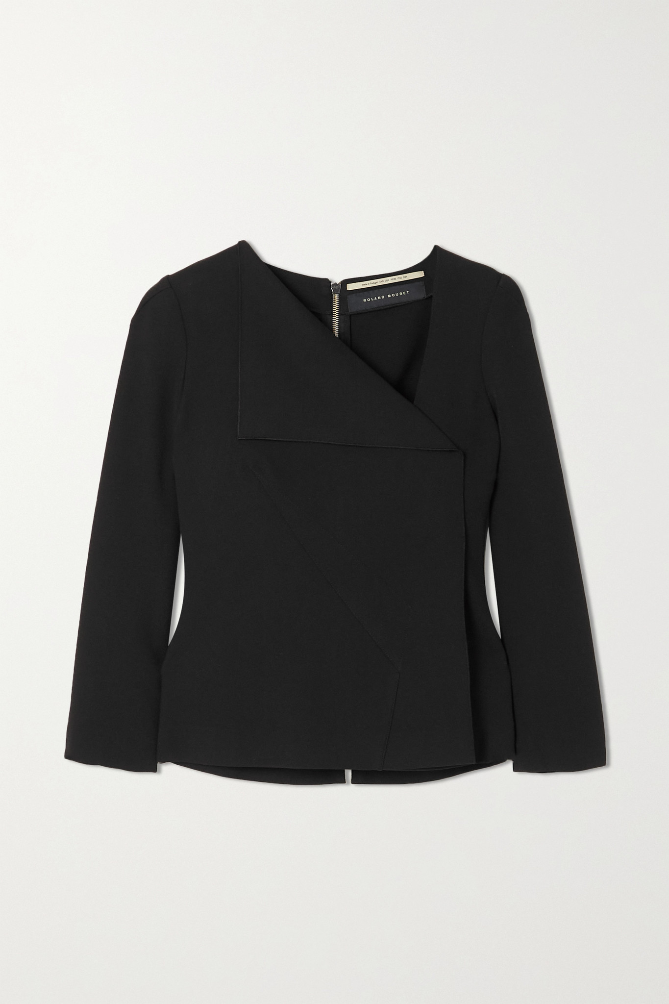 ROLAND MOURET - Mayfly Crepe Top - Black - UK8