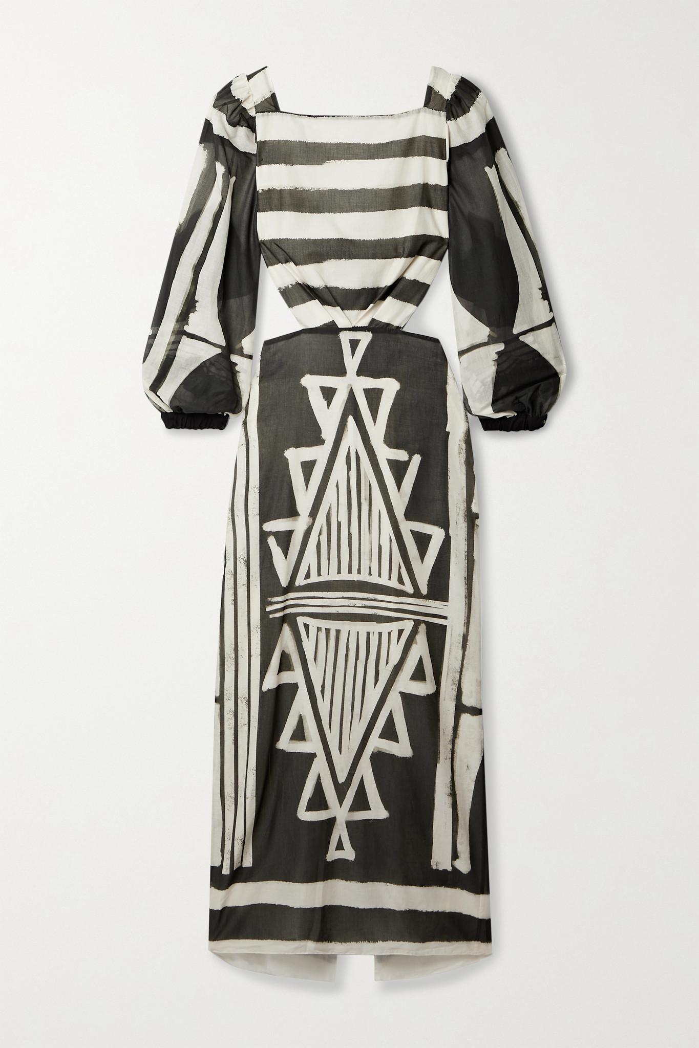 JOHANNA ORTIZ - + Net Sustain Items Of Value Cutout Printed Organic Cotton-voile Maxi Dress - Green