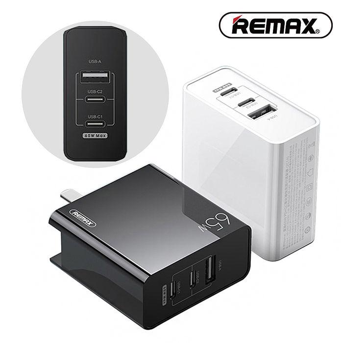 【REMAX】PD+QC3.0 氮化鎵 65W 三孔快速充電器 (RP-U67)