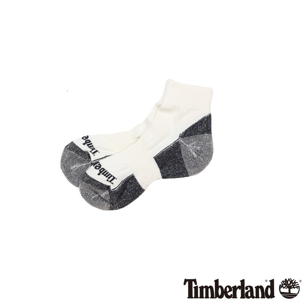 Timberland排汗中筒休閒短襪 - 白色
