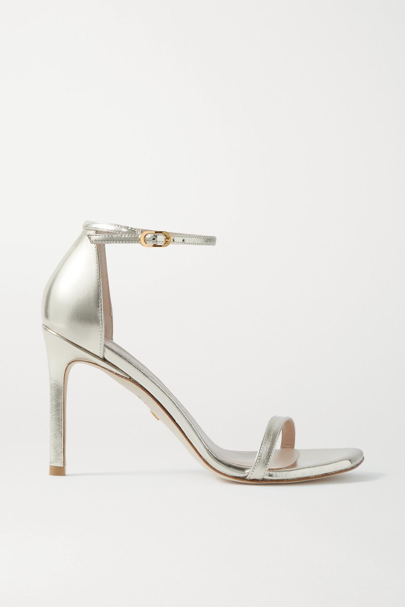 STUART WEITZMAN - Amelina 金属感皮革凉鞋 - 金色 - IT41.5