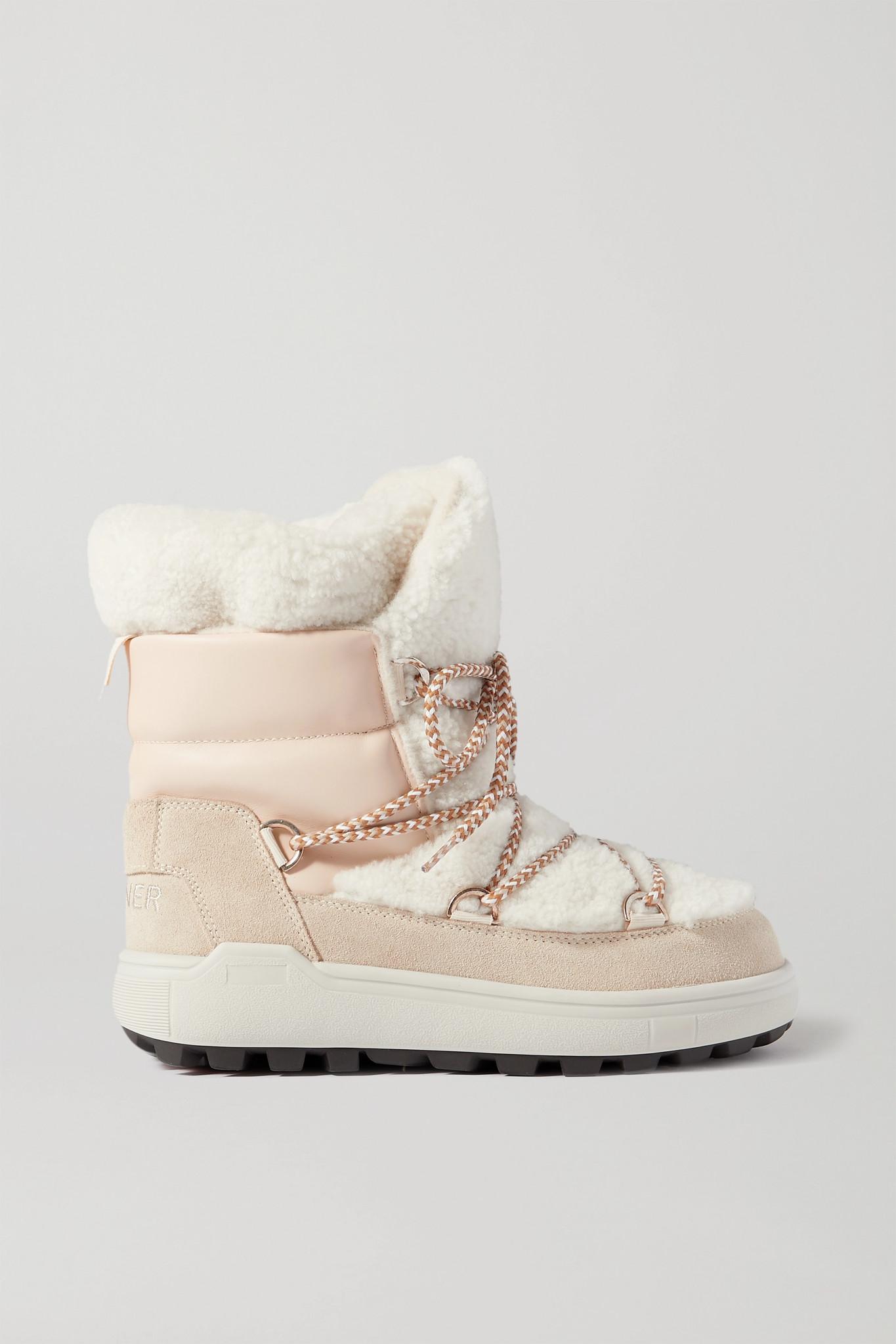 BOGNER - Chamonix 3 绒面革皮革羊毛皮雪地靴 - 米白色 - IT40
