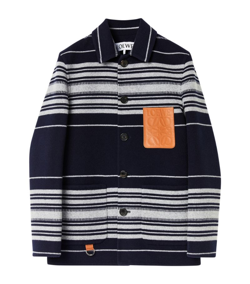 Loewe Striped Anagram Jacket