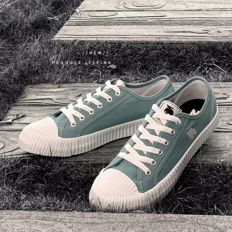 MOZ 瑞典- 綁帶式帆布餅乾鞋-蘇打綠