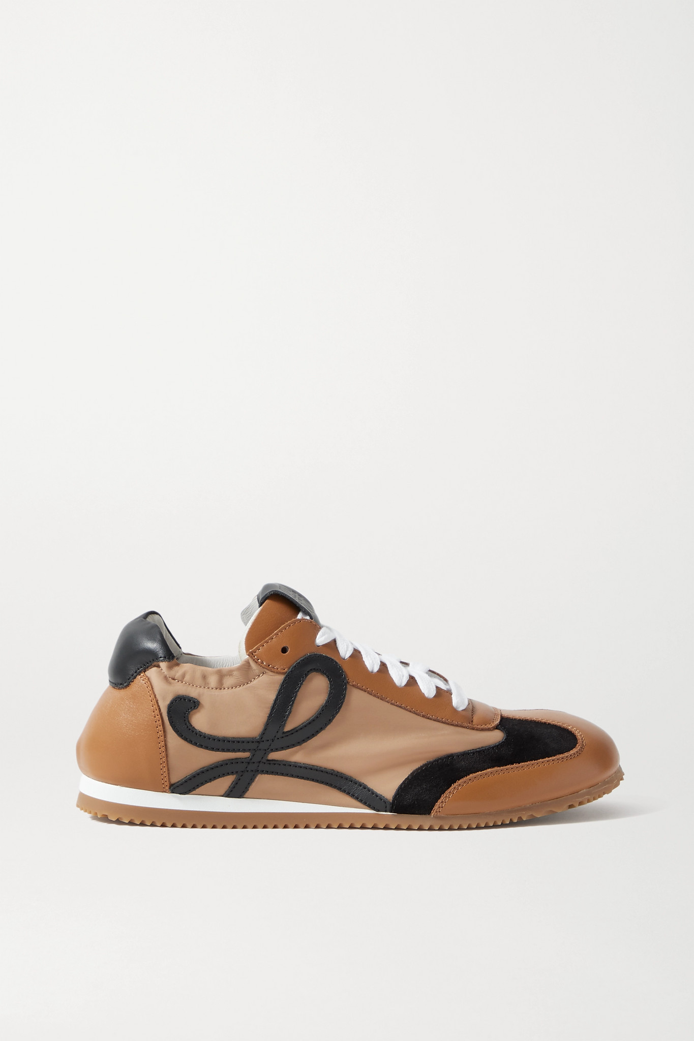 LOEWE - Ballet Runner Shell, Suede And Leather Sneakers - Brown - IT36
