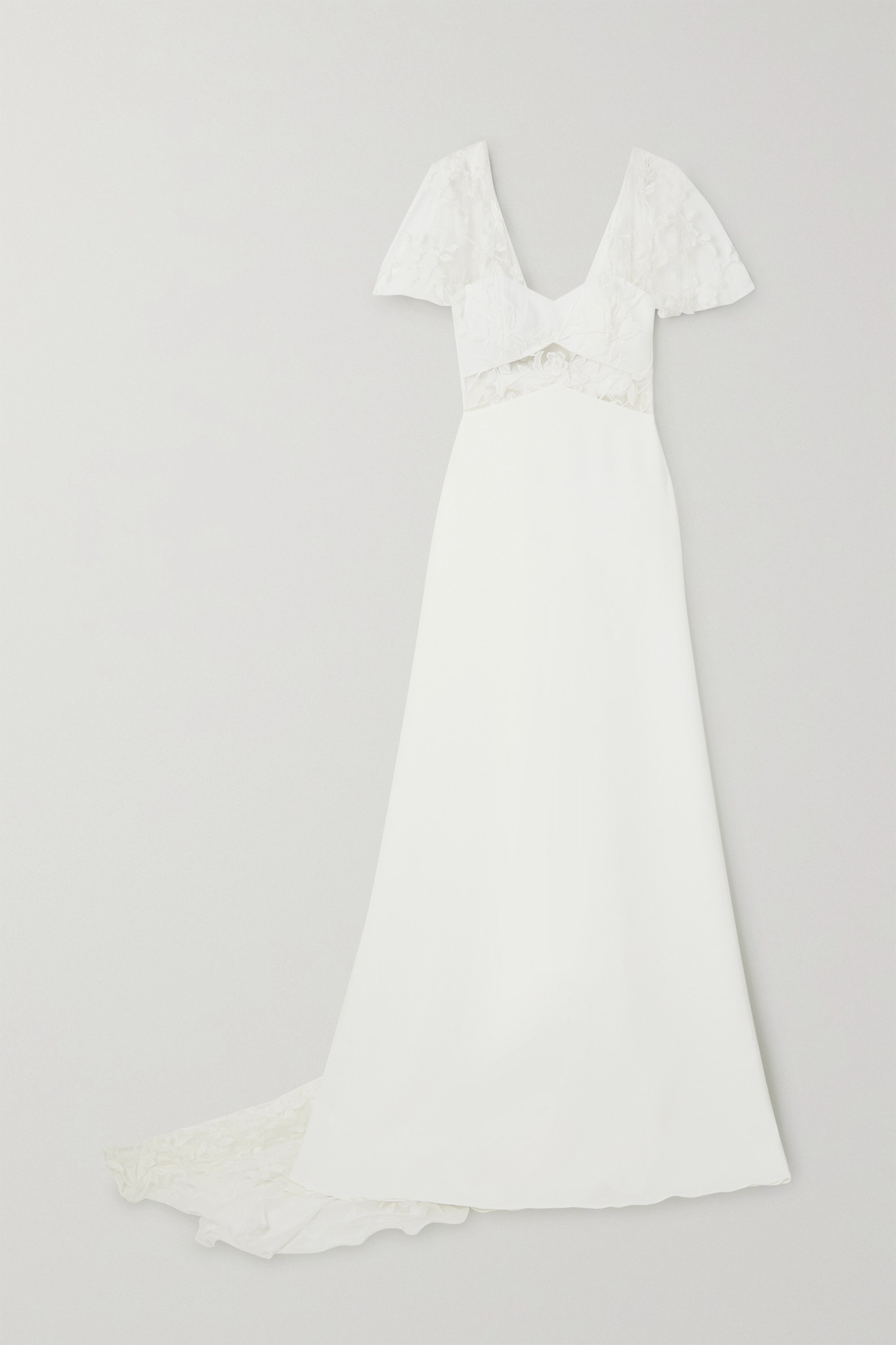 RIME ARODAKY - Kiss Embroidered Tulle And Crepe Gown - White - FR36
